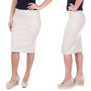Professional Pencil Skirt, D1114, Light Khaki